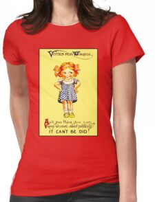 """""""WOMENS SUFFRAGE"""" Vintage (1930s) Advertising Print Womens Fitted T-Shirt"""