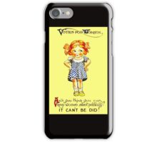 """""""WOMENS SUFFRAGE"""" Vintage (1930s) Advertising Print iPhone Case/Skin"""