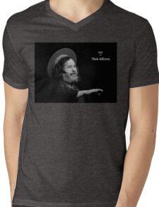 Stallman Think Different Mens V-Neck T-Shirt