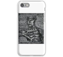 Paint Study of Da Vinci's Anatomical Sketches, Human Form iPhone Case/Skin