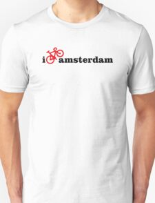 I Love Amsterdam - Red Bike Unisex T-Shirt