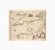 Vintage Map of The English Channel (1672) Unisex T-Shirt
