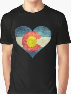 Heart Colorado American flag retro style best funny t-shirt Graphic T-Shirt