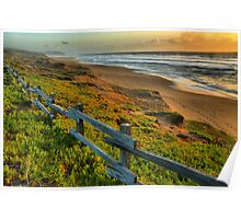 Pt. Reyes North Beach Sunset Poster
