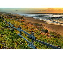 Pt. Reyes North Beach Sunset Photographic Print