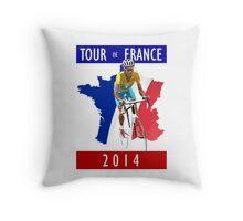 Le Tour 2014 Throw Pillow