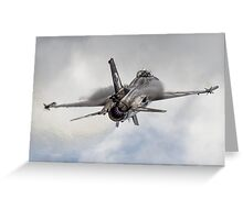 General Dynamics F-16 Fighting Falcon Greeting Card