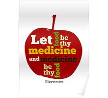 APPLE   Let Food be thy Medicine  Poster