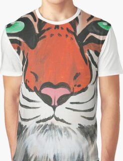 Majestic Tiger Closeup Graphic T-Shirt