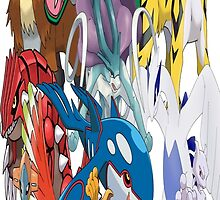Legendary Pokemon Bed Duvet! Twin Size (Check Other work for other sizes!) by TomsTops