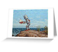 robot sailboat Greeting Card