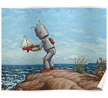 robot sailboat Poster