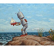 robot sailboat Photographic Print