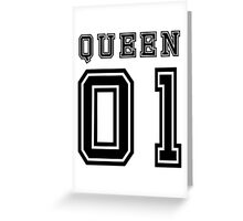 Sports Queen - Funny College Football Retro Design for Girls Greeting Card