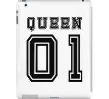 Sports Queen - Funny College Football Retro Design for Girls iPad Case/Skin