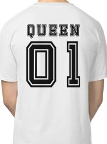 Sports Queen - Funny College Football Retro Design for Girls Classic T-Shirt