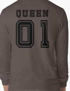 Sports Queen - Funny College Football Retro Design for Girls Long Sleeve T-Shirt