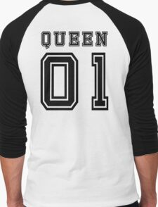 Sports Queen - Funny College Football Retro Design for Girls Men's Baseball ¾ T-Shirt