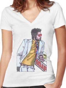 Fight Club #1 Selling Soap Women's Fitted V-Neck T-Shirt