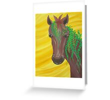 Jean the plant horse Greeting Card