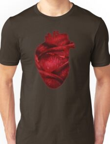 Red Scarlet Blood Rose Heart Unisex T-Shirt