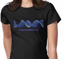 Ukulele-DNA Blue Womens Fitted T-Shirt
