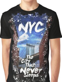 NYC Brooklyn Illustration 7 Graphic T-Shirt
