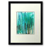 Beach Fence Framed Print
