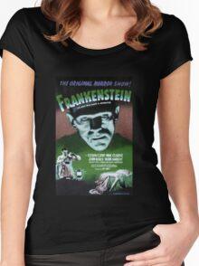 Frankenstein movie poster green Women's Fitted Scoop T-Shirt