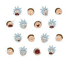 Rick and Morty Stickers Photographic Print