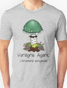 Verdigris Agaric (with smiley face) Unisex T-Shirt
