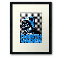 Star Wars Darth Vader Street art poster Framed Print