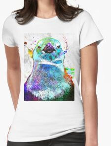 Penguin Grunge Womens Fitted T-Shirt