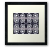 White Wire Circle Mix Framed Print