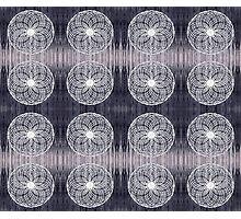 White Wire Circle Mix Photographic Print