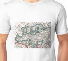 Vintage Map of Europe (1685) Unisex T-Shirt