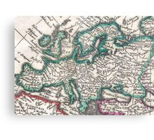 Vintage Map of Europe (1685) Canvas Print