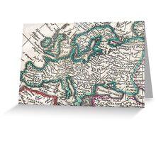 Vintage Map of Europe (1685) Greeting Card