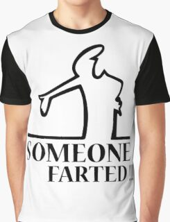 Funny Farting Cartoon Comic Humor Design  Graphic T-Shirt