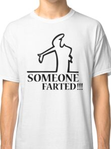 Funny Farting Cartoon Comic Humor Design  Classic T-Shirt