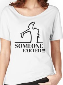 Funny Farting Cartoon Comic Humor Design  Women's Relaxed Fit T-Shirt