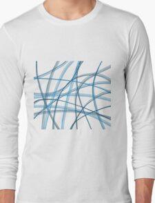 Blue linier Long Sleeve T-Shirt