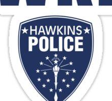 Hawkins Indiana Police Department Shield Sticker