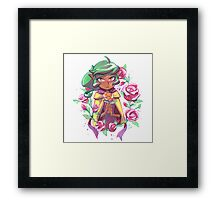 Harpy Gee, Gold Rose Framed Print