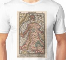Vintage Map of Europe as a Queen (1570) Unisex T-Shirt
