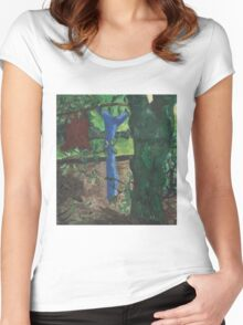 Three Trees in Acrylics Women's Fitted Scoop T-Shirt