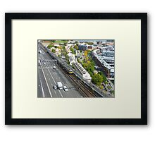 Bradfield Hwy - tilt shifted Framed Print