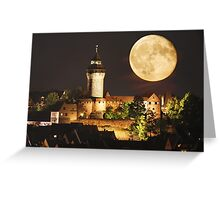 Moon over NBG Greeting Card