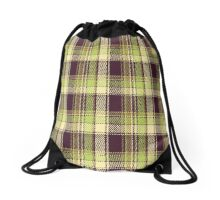 Green and Plum Plaid Products Drawstring Bag