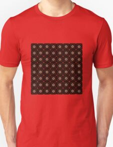 Daisy Black on Red Unisex T-Shirt